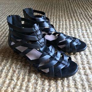 Anthropologie black strappy sandals